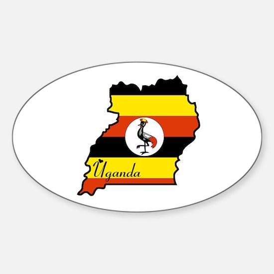Cool Uganda Oval Decal