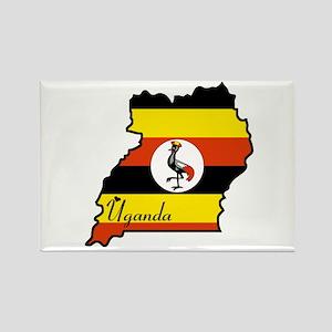 Cool Uganda Rectangle Magnet
