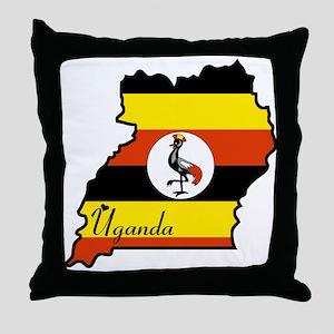 Cool Uganda Throw Pillow