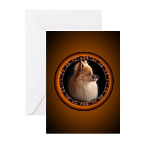 Pomeranian Greeting Cards Pk of 10 Small Dog Cards