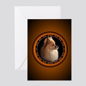Pomeranian Greeting Card Small Dog Art Cards