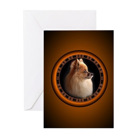 Pomeranian Greeting Card Small Dog Art Cards