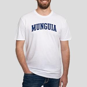 MUNGUIA design (blue) Fitted T-Shirt