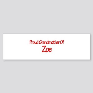 Proud Grandmother of Zoe Bumper Sticker