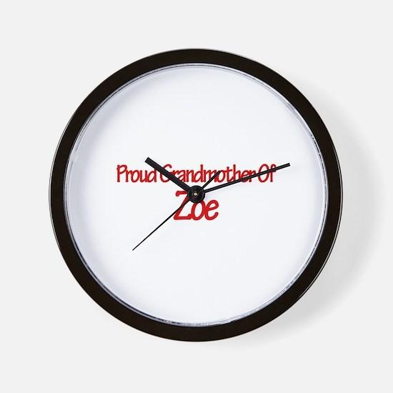Proud Grandmother of Zoe Wall Clock