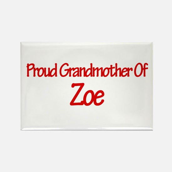 Proud Grandmother of Zoe Rectangle Magnet