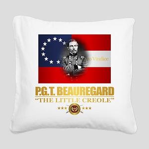 Beauregard (Southern Patriot) Square Canvas Pillow