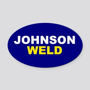 Johnson-Weld Oval Car Magnet