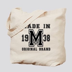 Made In 1938 Original Brand Birthday Desi Tote Bag
