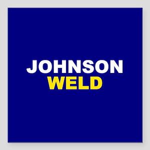 "Johnson-Weld Square Car Magnet 3"" x 3"""