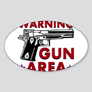 Warning Gun Area Sticker