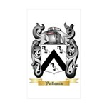 Vuillemin Sticker (Rectangle 50 pk)
