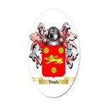 Vowle Oval Car Magnet