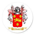 Vowle Round Car Magnet