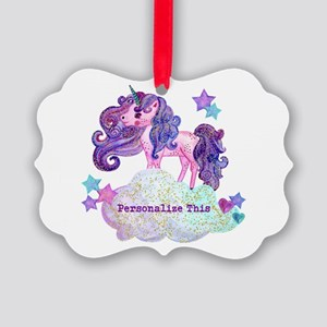 Cute Personalized Unicorn Ornament