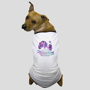 Cute Personalized Unicorn Dog T-Shirt