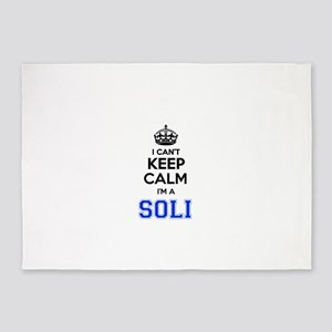 I can't keep calm Im SOLI 5'x7'Area Rug