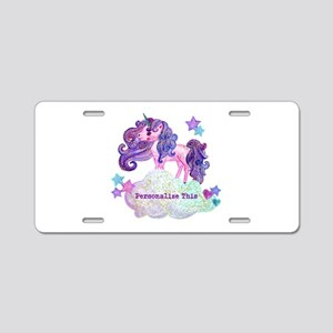 Cute Personalized Unicorn Aluminum License Plate