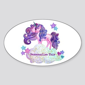 Cute Personalized Unicorn Sticker