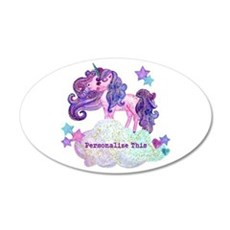 Cute Personalized Unicorn Wall Decal
