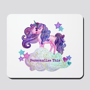 Cute Personalized Unicorn Mousepad