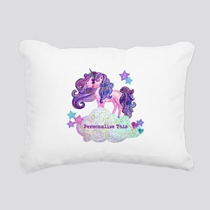 Cute Personalized Unicorn Rectangular Canvas Pillo
