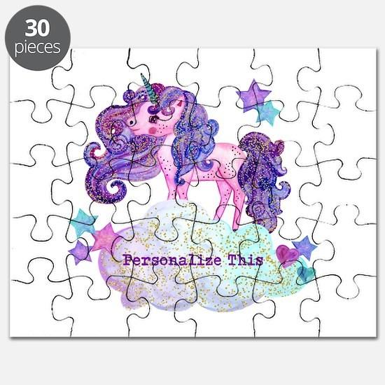 Cute Personalized Unicorn Puzzle