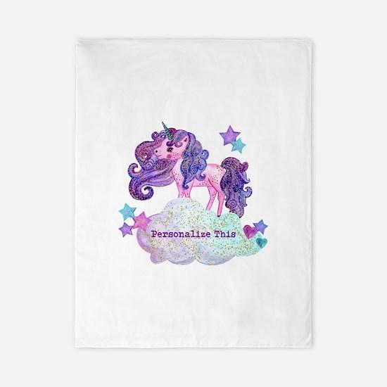 Cute Personalized Unicorn Twin Duvet Cover