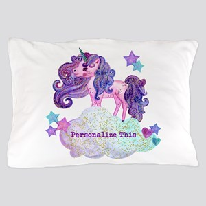 Cute Personalized Unicorn Pillow Case