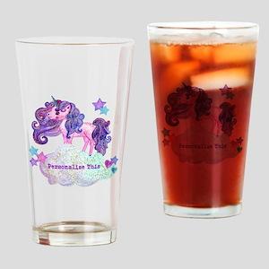 Cute Personalized Unicorn Drinking Glass