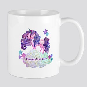 Cute Personalized Unicorn Mugs