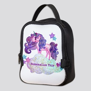 Cute Personalized Unicorn Neoprene Lunch Bag