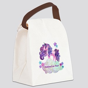 Cute Personalized Unicorn Canvas Lunch Bag