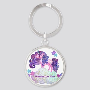 Cute Personalized Unicorn Keychains
