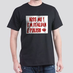 Kiss Me: Italian & Polish Ash Grey T-Shirt