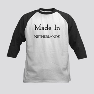 Made In Netherlands Kids Baseball Jersey