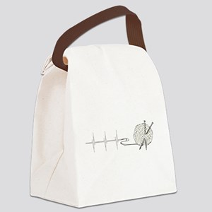 A Knitting Heart Canvas Lunch Bag