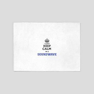 I can't keep calm Im SOUNDWAVE 5'x7'Area Rug