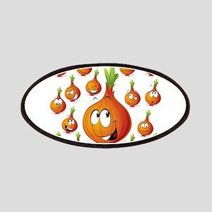 Orange onion smiley Patch