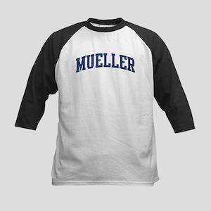 MUELLER design (blue) Kids Baseball Jersey