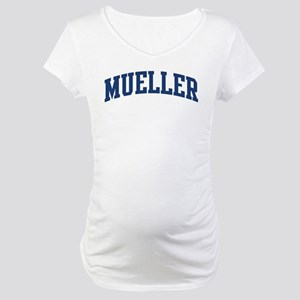 MUELLER design (blue) Maternity T-Shirt