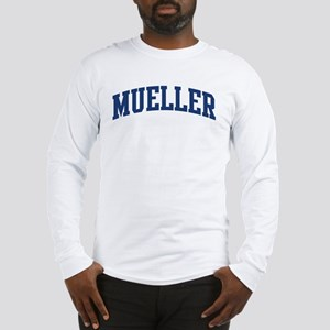 MUELLER design (blue) Long Sleeve T-Shirt