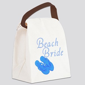 beach_bride-blue Canvas Lunch Bag