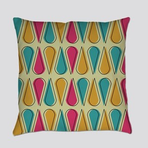 Mid Century Abstract Art Everyday Pillow