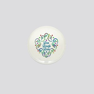 Happy Live Laugh Love Mini Button