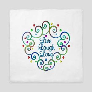 Happy Live Laugh Love Queen Duvet