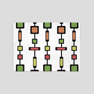 Mid Century Squares Art 5'x7'Area Rug