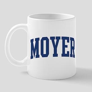 MOYER design (blue) Mug