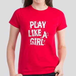 Play Like A Girl Women's Dark T-Shirt