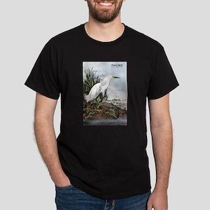Audubon Snowy Egret Bird T-Shirt